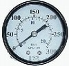 "Pressure Gauge 1/4"" NPT Center Back-mount Gauge 300psi 2"""